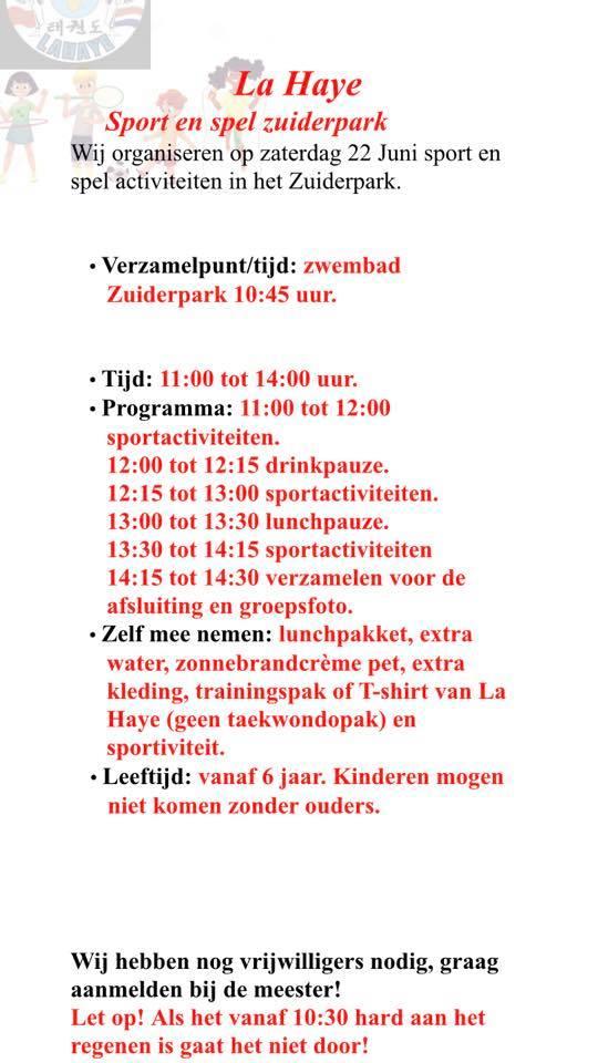 La Haye sport en spel dag in het Zuiderpark